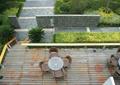 木平臺,桌椅組合,景墻