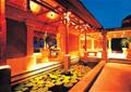 酒店中庭景观,水池,长廊,照明灯