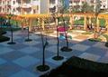 小区中庭景观,廊架,树池,花钵,长廊架