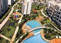 小区中庭景观,露天泳池,园路,儿童游乐设施