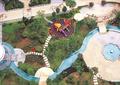 小区中庭景观,园路,凉亭,水池,汀步