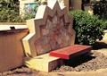 景墙,坐凳,鹅卵石铺装