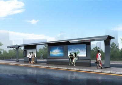 现代公交站3种廊架设计3DMAX模型