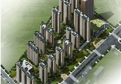 某小区及单体建筑立面及景观设计JPG方案