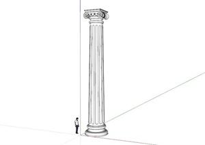 欧式景观罗马柱设计SU(草图大师)模型