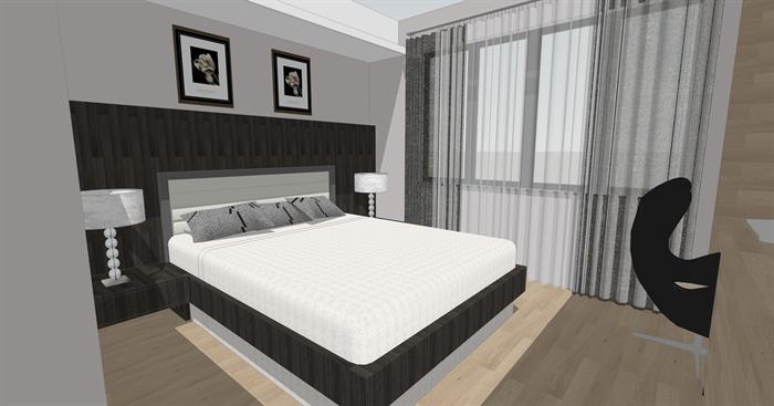 现代二层别墅室内设计SU模型,该设计风格为现代设计风格,有卧室,客厅,餐厅,书房等,模型制作美观详细,细节部分制作精致,有材质贴图,具有一定参考使用价值,欢迎下载使用。