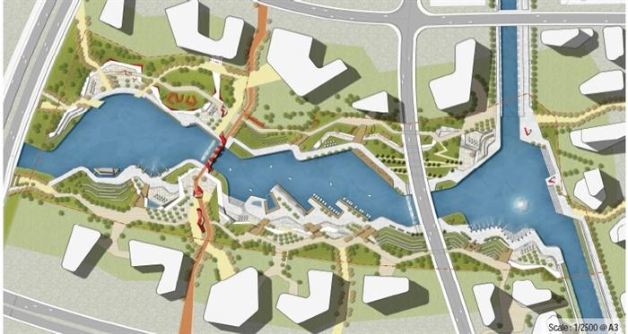 某中央商务区滨水景观概念设计方案高清文本[原创]