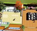 庭院花園,庭院景觀,沙發組合,石板汀步