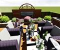 别墅庭院,庭院花园,休闲区,沙发组合