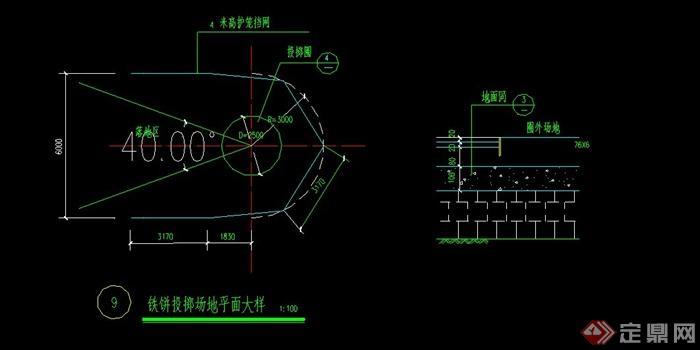 标准篮球场CAD做法详图(1)
