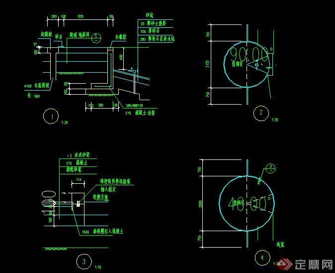 標準籃球場CAD做法詳圖(2)