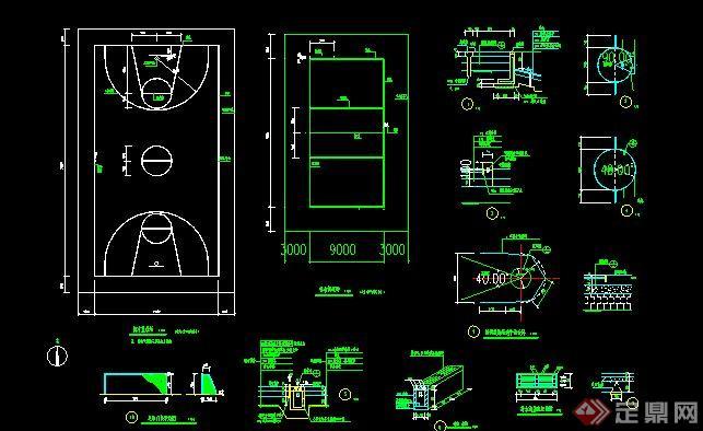 標準籃球場CAD做法詳圖(5)