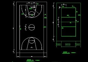 標準籃球場CAD做法詳圖