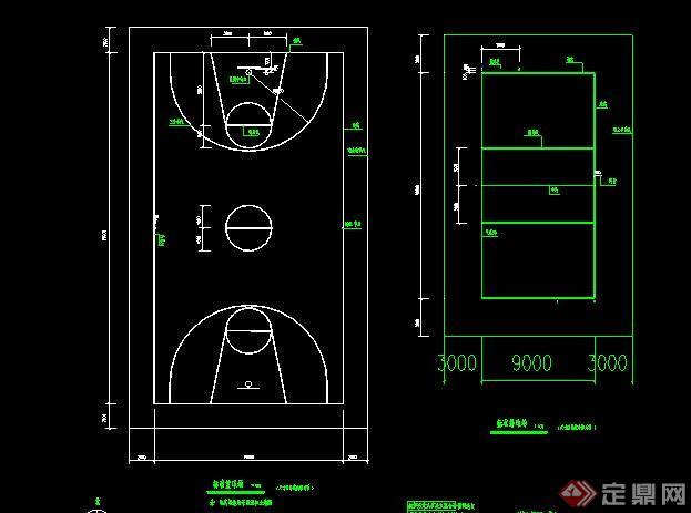 標準籃球場CAD做法詳圖(6)