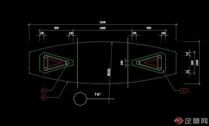 欧式拱形大门设计cad施工图