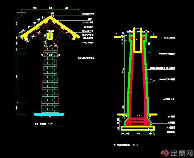 现代木架模块大门v木架CAD施工图室内高尔夫cad石材图片