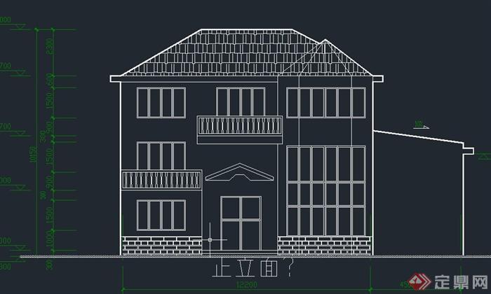 两层小型别墅建筑设计cad施工图