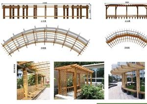 多个木质廊架设计JPG效果图
