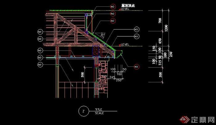 某现代中式亭子设计cad施工图