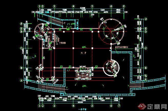 某新古典三层古堡设计CAD平面图