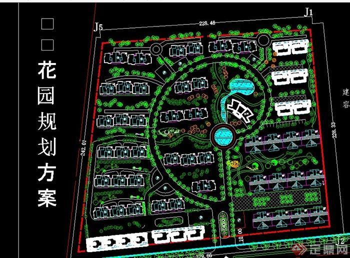 某住宅小区绿化景观设计图纸