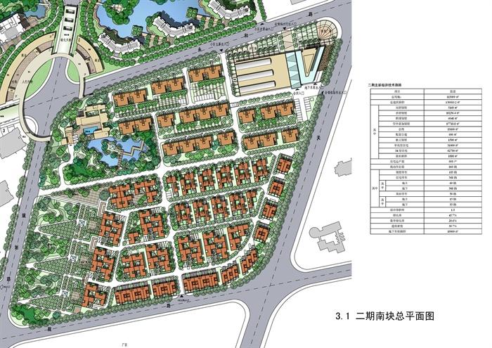 多层高层住宅小区景观设计规划彩平图合集