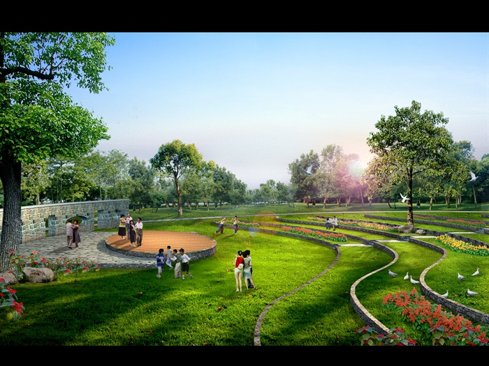 某老年休闲公园景观设计方案[原创]