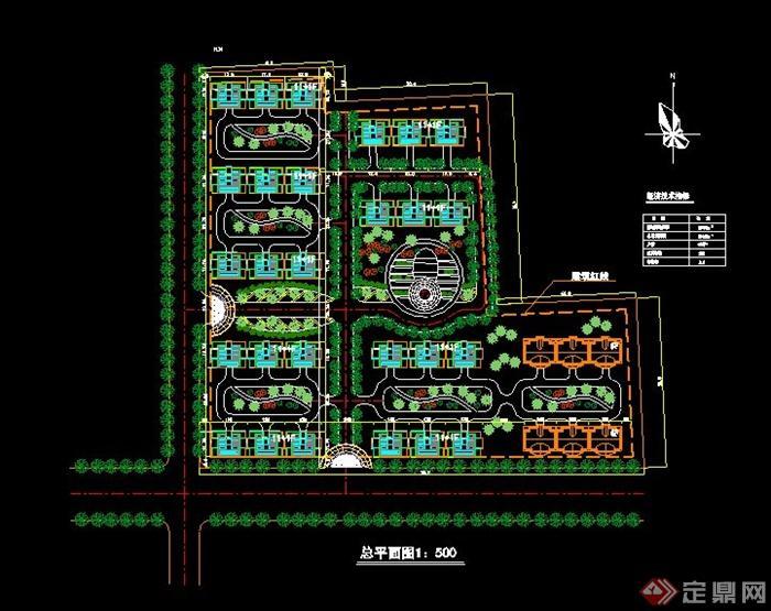 宅小区规划设计cad总平面图图片