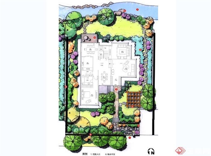 别墅庭院景观平面图合集图片