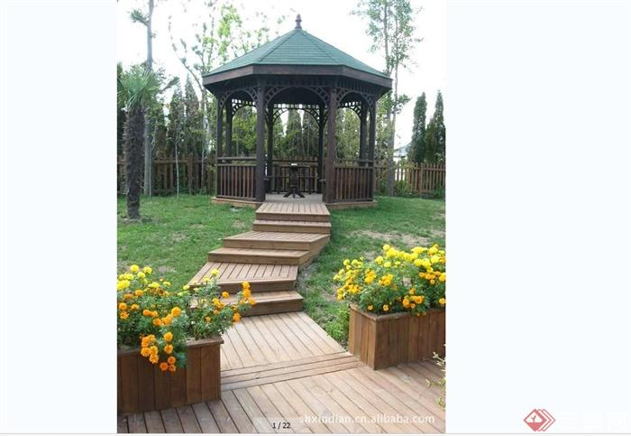 某别墅庭院景观设计意向图平面图