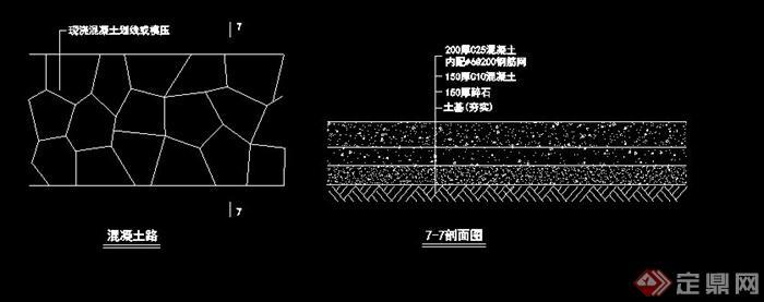 三铺装面种地园林景观v详图CAD详图试题cad证高级电子图片
