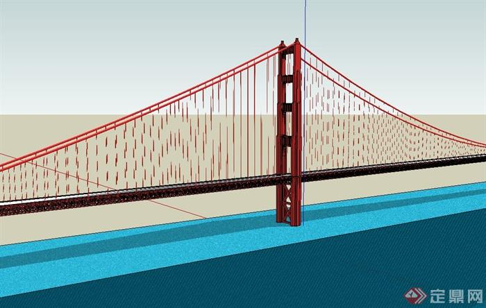某高速公路高架桥设计su模型[原创]