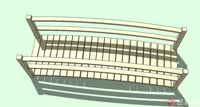 木质拱桥设计su模型[原创]