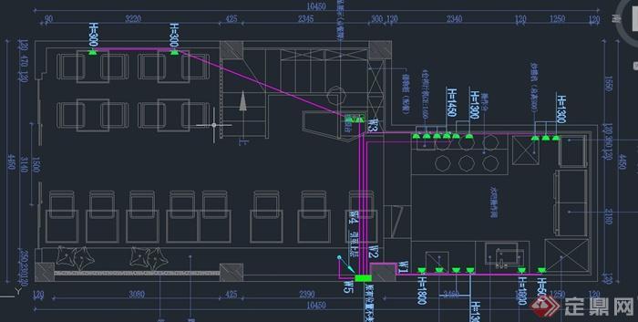 现代某甜品店室内装修设计CAD施工图(2)
