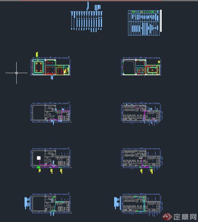 现代某甜品店室内装修设计CAD施工图(3)
