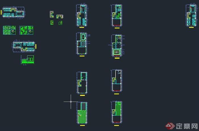 现代某甜品店室内装修设计CAD施工图(4)