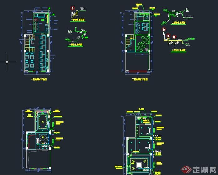 现代某甜品店室内装修设计CAD施工图(5)