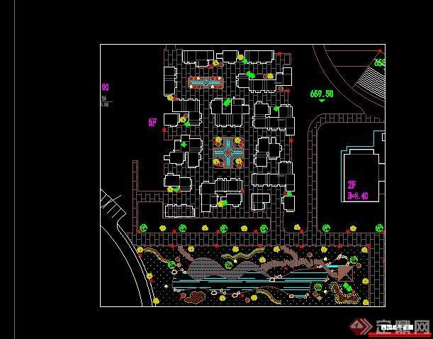 学校景观设计 CAD图纸 平面规划