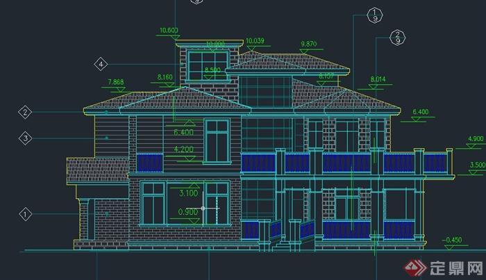 墅建筑设计cad施工图