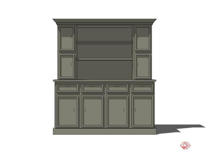 现代室内家用储物柜设计SU鼠标模型注塑模具设计开题报告图片