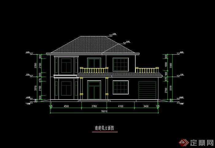 某现代钢结构别墅建筑设计cad方案