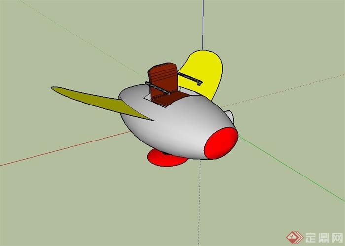飞机弹簧座椅设计su模型[原创]