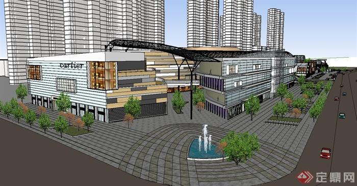 某现代城市商业中心建筑设计su模型