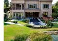 别墅庭院,庭院景观,庭院花园,水池,自然石水池水景