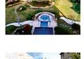 庭院景观,庭院花园,庭院,汀步,草坪,水池