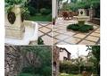 庭院,庭院景观,庭院花园,小品,汀步