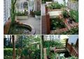 庭院景观,庭院设计,水池景观,秋千模型