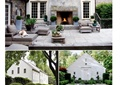 别墅庭院,庭院花园,庭院景观