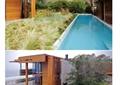 庭院花園,別墅庭院,花園,泳池