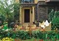 庭院景观,庭院设计,木平台,桌椅设计,入口景观